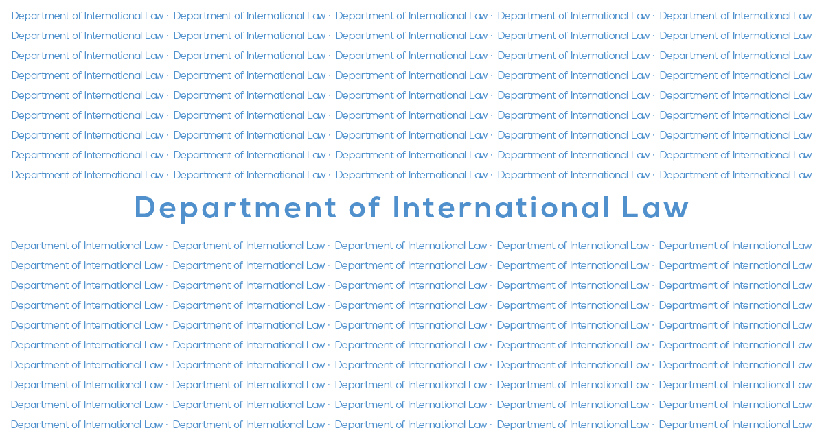 Department of International Law