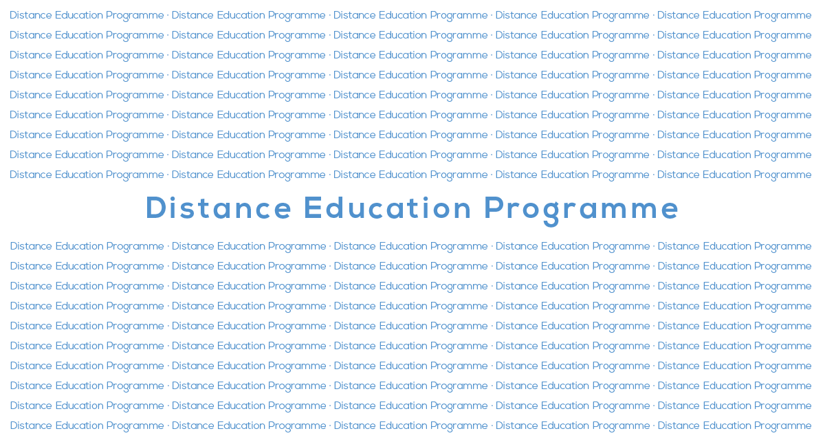 Distance Education Offer